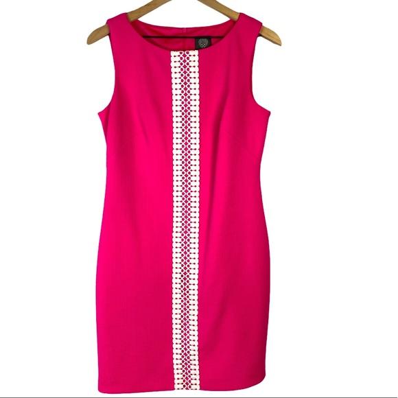 Vince Camuto Mini Dress Pink/White Sleeveless, 6